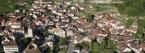 Vue aérienne d'Ollon avec localisation du Château