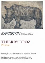Exposition de Thierry Droz