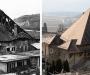 Toiture effondrée au début des années 1980, restaurée en 1989